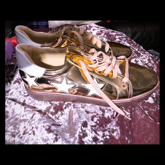 Converse Shoes - Rose gold converse style shoes 5db0302c9